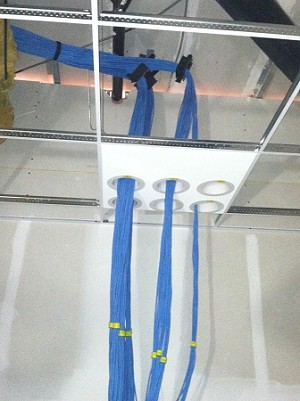 4 Inch Suspended Ceiling Cable Penetration System Low